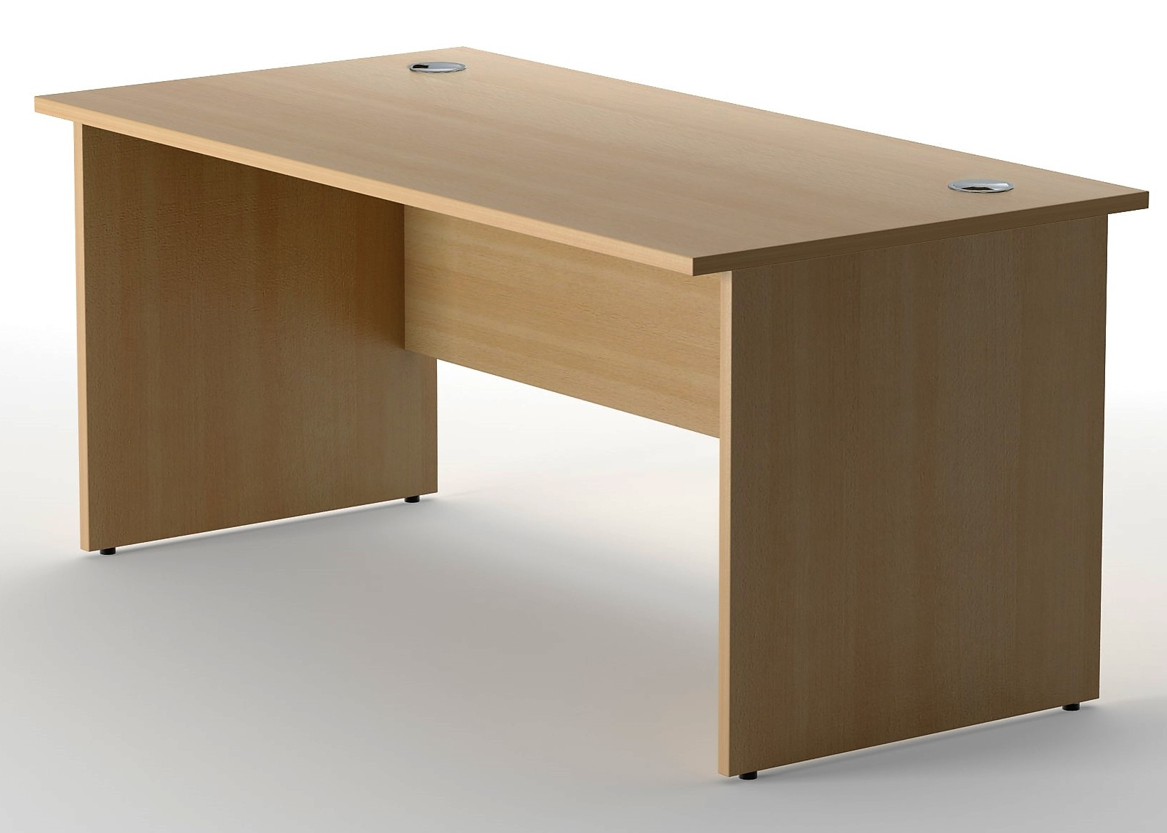 Delta Rectangular Desks Panel End Leg