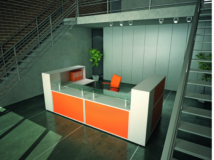 Receptiv Coloured Reception Desks