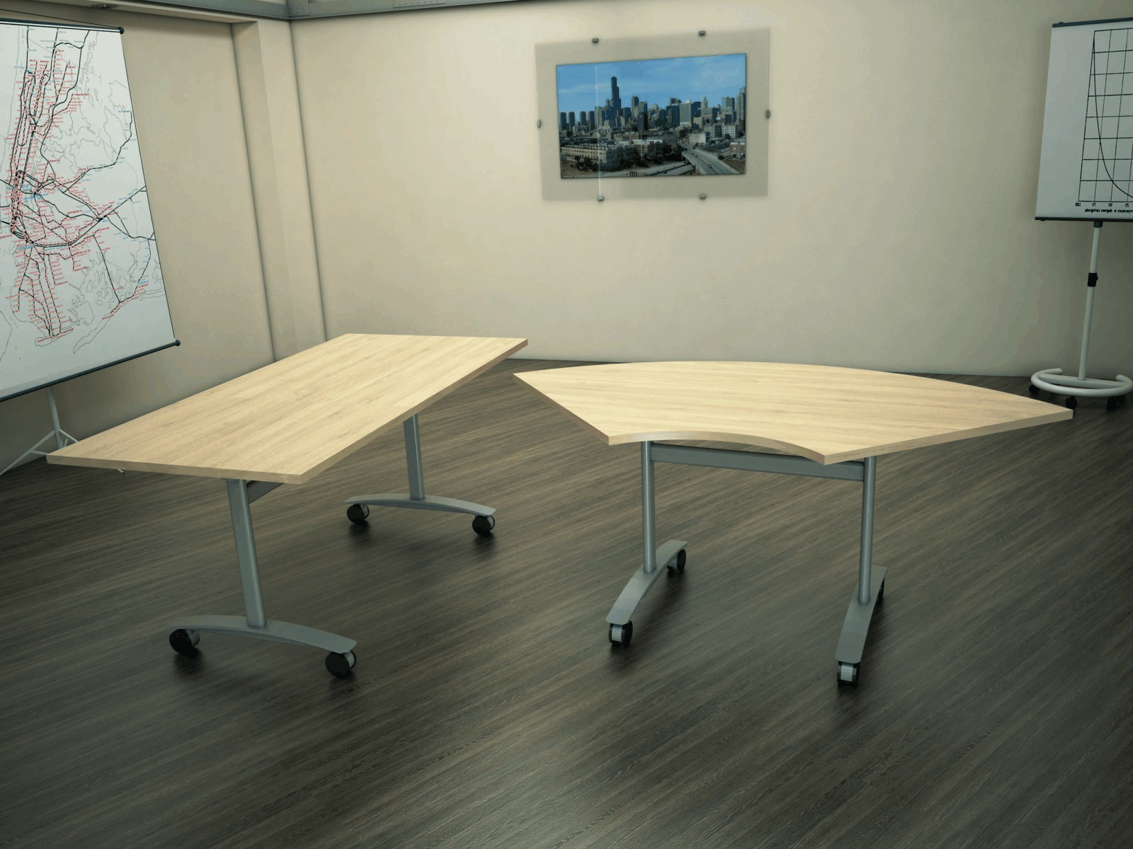 Austin Flip Top and folding desks