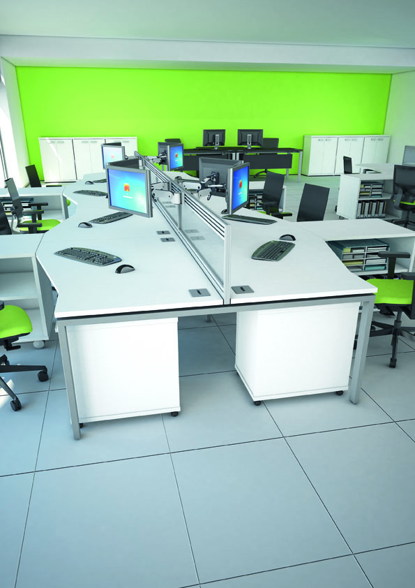 Aspire Corner Crescent Workstations