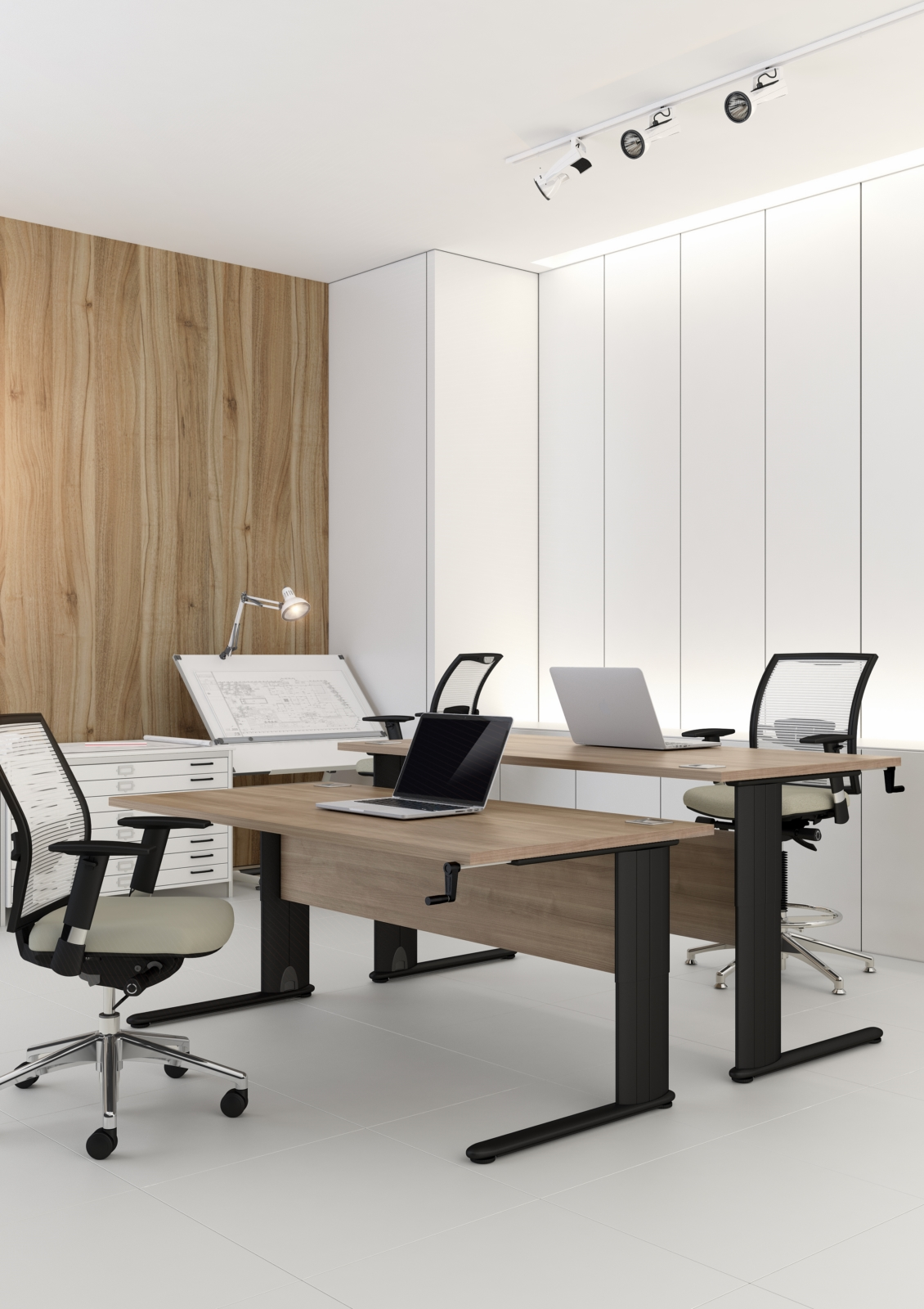 Optima + Height Adjustable Wave Desk