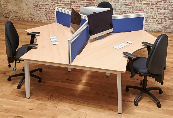 120 Degree Bench Desks